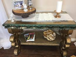 Vintage Gold Console Table