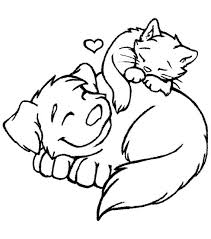 Cats And Dogs Coloring Pages Images Of Photo Albums Dog Cat