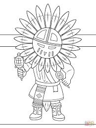 Native Americans Coloring Pages Ka Doll Navajo Wedding Basket From American For Thanksgiving Color Educations