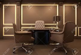 bureau classique intérieur de bureau classique et moderne en milieu de travail