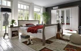 details zu steens monaco massivholz schlafzimmer landhausstil white wash 4 tlg