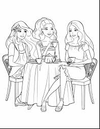 Dinner Barbie Mermaid Coloring Pages
