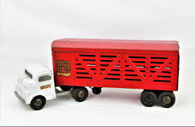 Vintage 1950s Structo Cattle Farms Inc. Toy Cattle Truck And Trailer John Deere 116th Scale Big Farm Truck With Cattle Trailer Tbek46069 Bruder Man Transportation Cow Figure Wolds Agri Dcp Intertional 9100i Day Cab Walking Floor Ferguson 1959 Tonka Farms Stake Horse Collectors Weekly Breyer Amimal Rescue And Toy Lights Siren Amazoncom Tomy Peterbilt Semi Vehicle Lowboy Ertl 132 Model 579 Livestock Long Haul Trucker Newray Toys Ca Inc Whosale Now Available At Central Items 1 40 Flatbed 2 Tractors Big Farm 367 Grain Box Farmer Tractor And Kids Set Onle4bargains