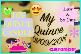 Quince Wedding DIY Custom Candle Centerpieces Easy Fun MyQuinceanera