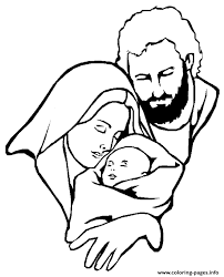 Mary With Baby Jesus Coloring Pages
