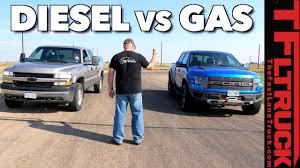 Old Vs Older: Chevy HD Duramax V8 Vs Ford Raptor Drag Race - The ... Diesel Truck Buyers Guide Power Magazine To Diesel Or Not To Pros And Cons Of Vs Gas Driving 2011 Heavy Duty Test Hd Shootout Truckin 39l Cummins Engine Cons The 4bt Drivgline 2017 Chevy Colorado V6 8speed Gmc Canyon Ike Gauntlet Ram The Catalogue 2016 Nissan Titan Xd Review Test Drive With Price Petrol Lpg Car Buying Group Blog Gas Which One Should You Choose For Your Rv Trader 060 Archives Fast Lane Ecoboost