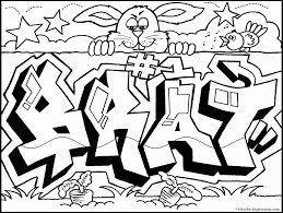 Graffiti Words Coloring Pages Car Pictures
