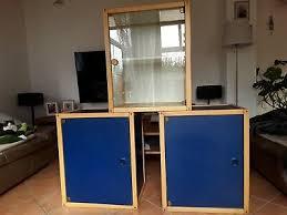 3 flötotto profilsystem bestehend aus 2 xcontainer blau und 1x glasvitriene