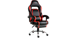 Reclining Gaming Chair With Footrest by Pace Gaming Chair With Recline And Footrest In Black Red