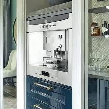 Miele Espresso Machine Built In Kitchen Nook With Coffee