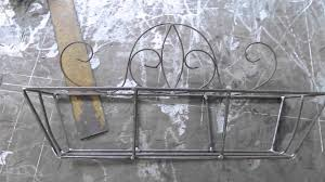 porte pot de fleur fer forge wrought iron flower pot holder support de pot à fleur en fer