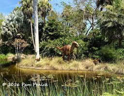 Palms and dinosaurs at McKee Botanical Garden