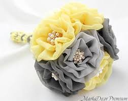 Silver Gray Wedding Bouquets