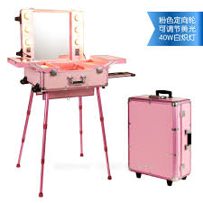 polaiao lighting makeup trolley with mirror with bulbs home