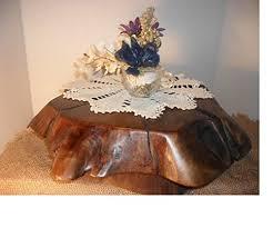 Rustic Driftwood Black Walnut Cake Stand