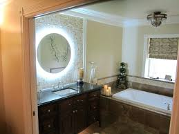 lighted magnified makeup mirror wall mounted hotel bathroom wall