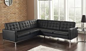 Buchannan Faux Leather Corner Sectional Sofa Black by Trusting Sofa Bed Tags Sofa Colors Modern Brown Leather Sofa