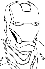 Iron Man Face Coloring Pages Helmet Sketch