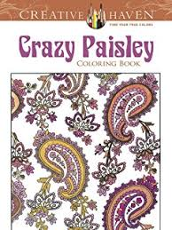 Creative Haven Crazy Paisley Coloring Book Adult