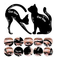 cat eye template hisight 2 in 1 cat eyeliner stencil smoky eyeshadow