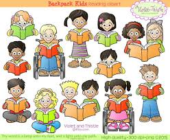 Kids Reading Clipart Kids Clip Art Children Reading School Clip