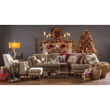 Hayneedle Flocked Christmas Trees by National Tree Pre Lit 7 1 2 U0027 Carolina Pine Hinged Artificial