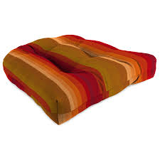 Replacement Patio Chair Cushions Sunbrella by Shop Sunbrella Astoria Sunset Stripe Standard Patio Chair Cushion