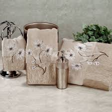 magnolia floral bath towel set bronze bath hand fingertip bath