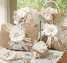 Burlap And Lace Wedding Set