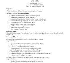 Resume Examples College Graduate Grad Entry Level Resumes Accounting Example New Samples
