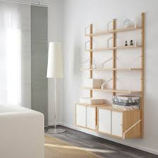 svalnäs bamboo white wall mounted storage combination