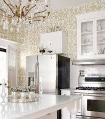 Kitchen Luxury Victorian Style Of Kitchen Wallpaper In Gold And