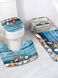 mohoo flanell seestern muster wc teppich badezimmer