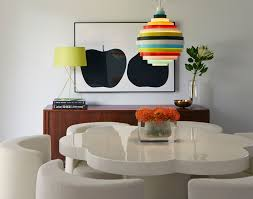Unusual Dining Tables Room Midcentury With Acid Green Buffet Colorful Image By Alison Damonte Design