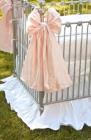 Bratt Decor Crib Skirt by Lulla Smith Decorative Crib Bows By Lulla Smith