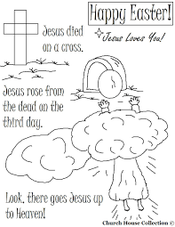 Resurrection Coloring Pages Cross Tomb Jesus
