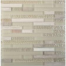 random bricks beige glass and random brick tile glossy