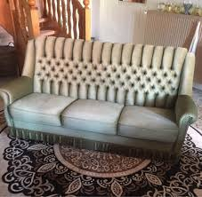 3er sofa grün antik vintage shabby edel wohnzimmer