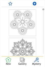 Flowers Mandala Coloring Book Image