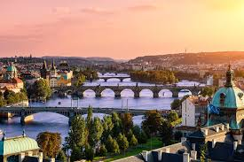 Vlatava River And The Bridges Of Prague