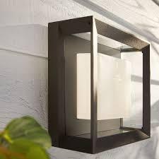 philips hue white color ambiance econic wandleuchte schwarz quadratisch
