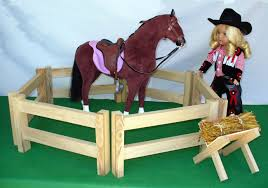 18 Inch Doll Furniture Horse Corral 18 Doll