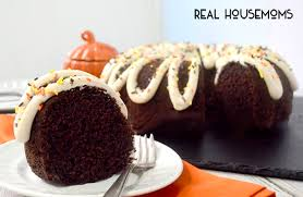 Chocolate Bundt Cake with Pumpkin Spice Frosting Real Housemoms