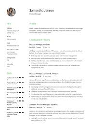Product Manager Sample Resume