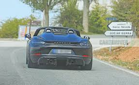 2019 Porsche 718 Boxster Spyder Spy Photos News Car And Driver In ...
