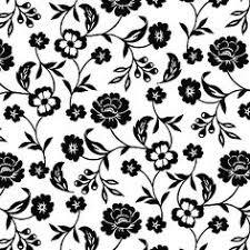 Black And White Floral Decoupage Paper