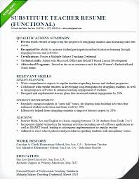 Preschool Teacher Resume With No Experience Download Best Of Sample Teaching Substitute Functional