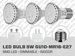5w dimmable smd led bulb gu10 mr16 e27 led bulb canada