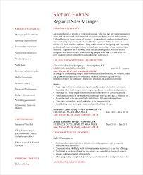 Regional Sales Manager Resume