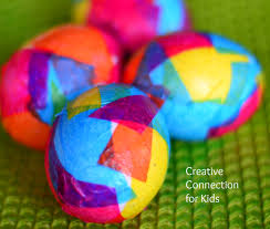 Tissue Paper Easter Eggs
